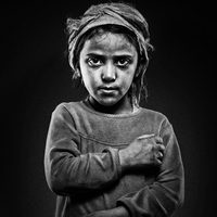 Portraits of young girls in my village